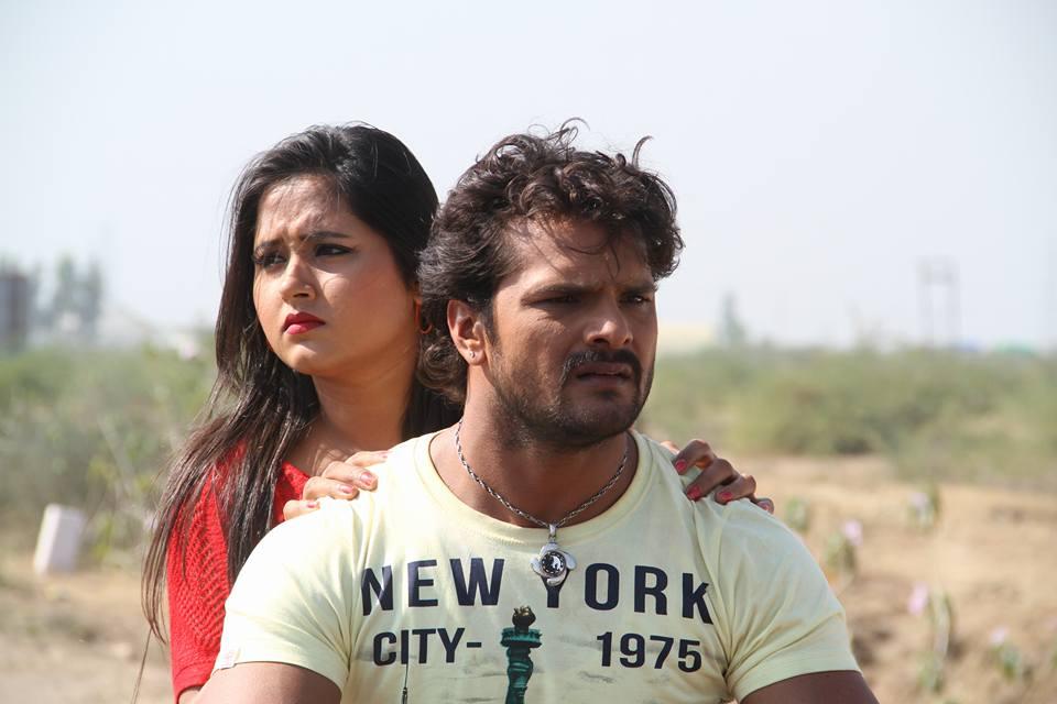 Kajal Raghwani and Khesari Lal Yadav ON Set of Dabang Aashiq Bhojpuri Film Shooting photo