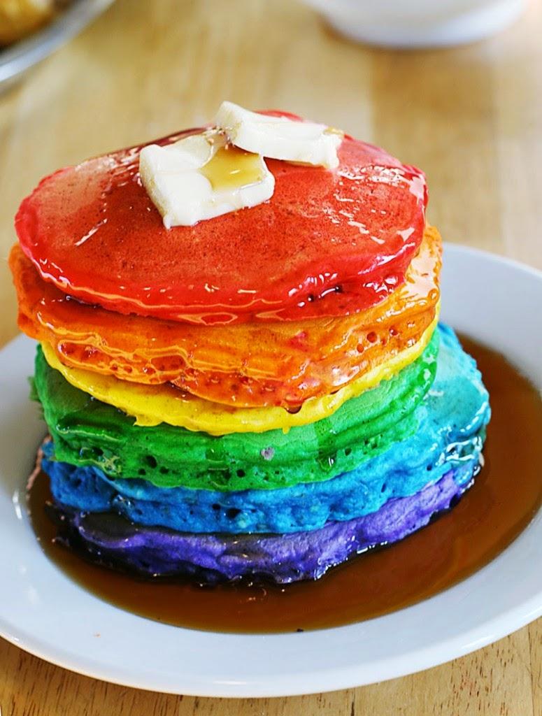 Resep Pancake Rainbow