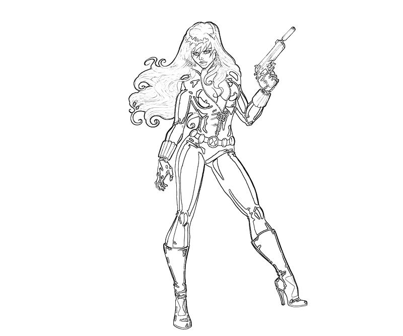 free black widow coloring pages - photo#16
