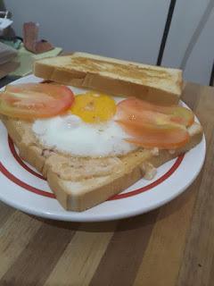 Sandwich Telur untuk Vegetarian