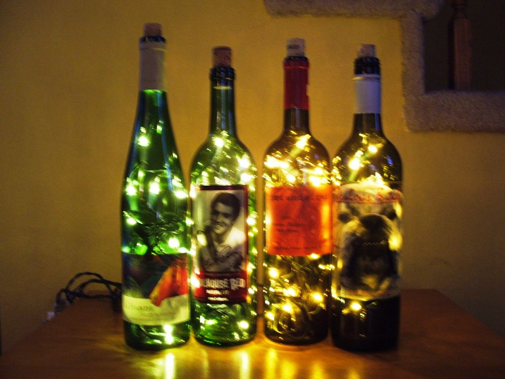 Cool bottle lamps and creative bottle lighting designs for Champagne bottle lamp