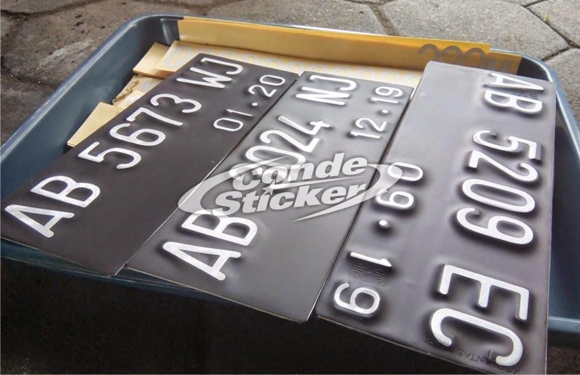 Harga Cutting Sticker Plat Nomor Motor Terlengkap Inomodifikasi Stiker Magnet Model Nopol Standar