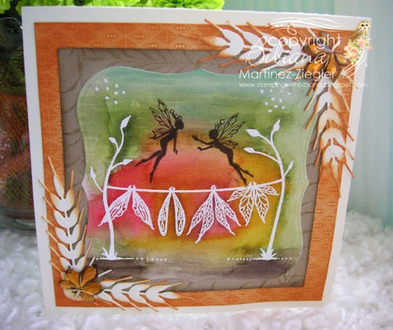 lavinia watercolor clothesline front card