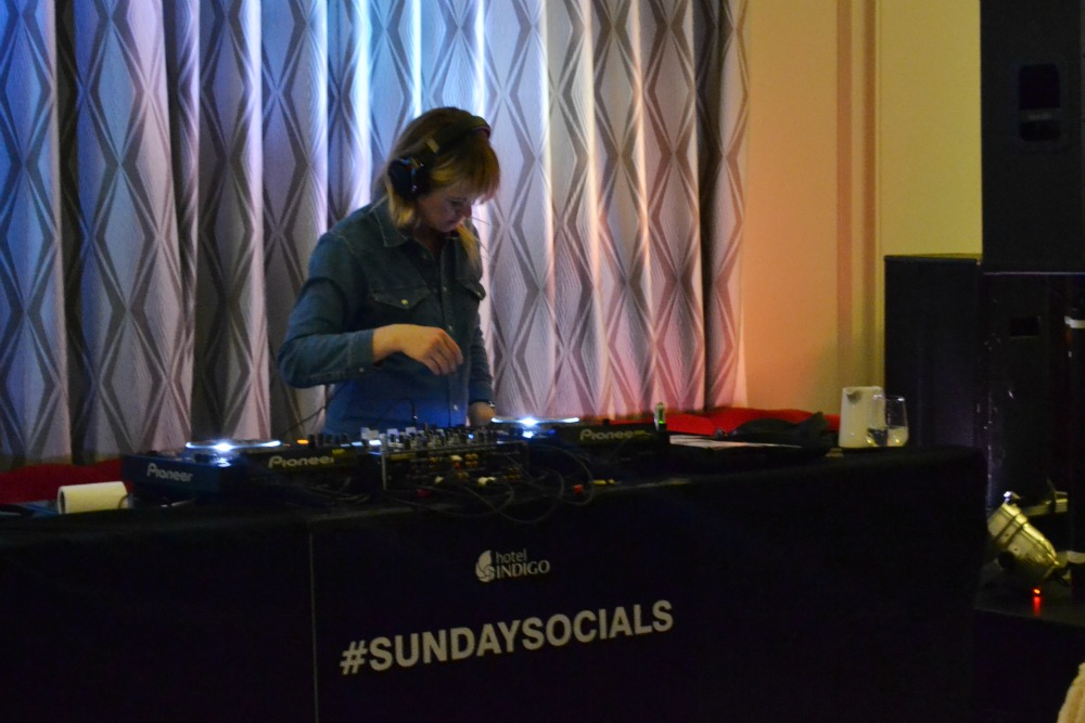 edith bowman dj hotel indigo sunday socials sounds of the neighbourhood glasgow
