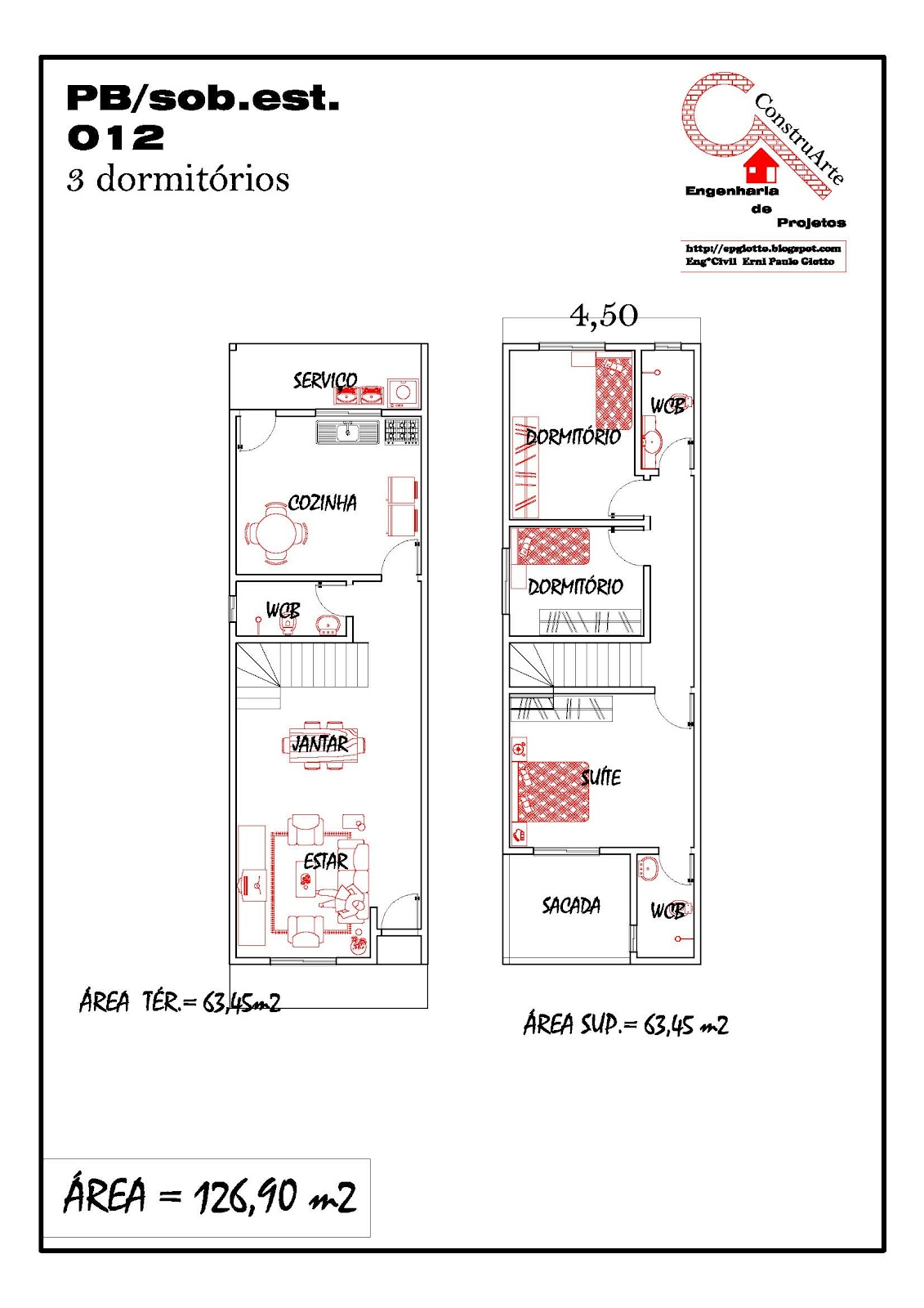 Planta de casa projeto casa: 15 PB SOBRADO terreno estreito #B21919 1131 1600