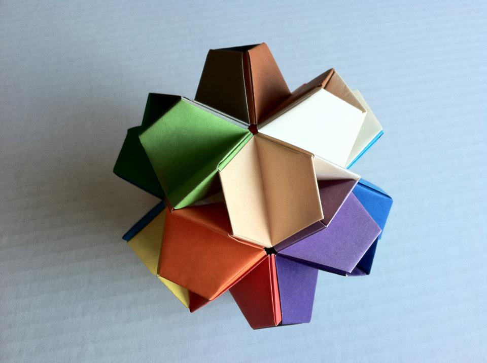 quiltwrapup origami icosahedron