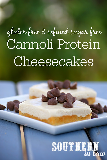 Healthy Cannoli Protein Cheesecake Slice Recipe - low fat, gluten free, high protein, refined sugar free, low carb, grain free, clean eating friendly, healthy