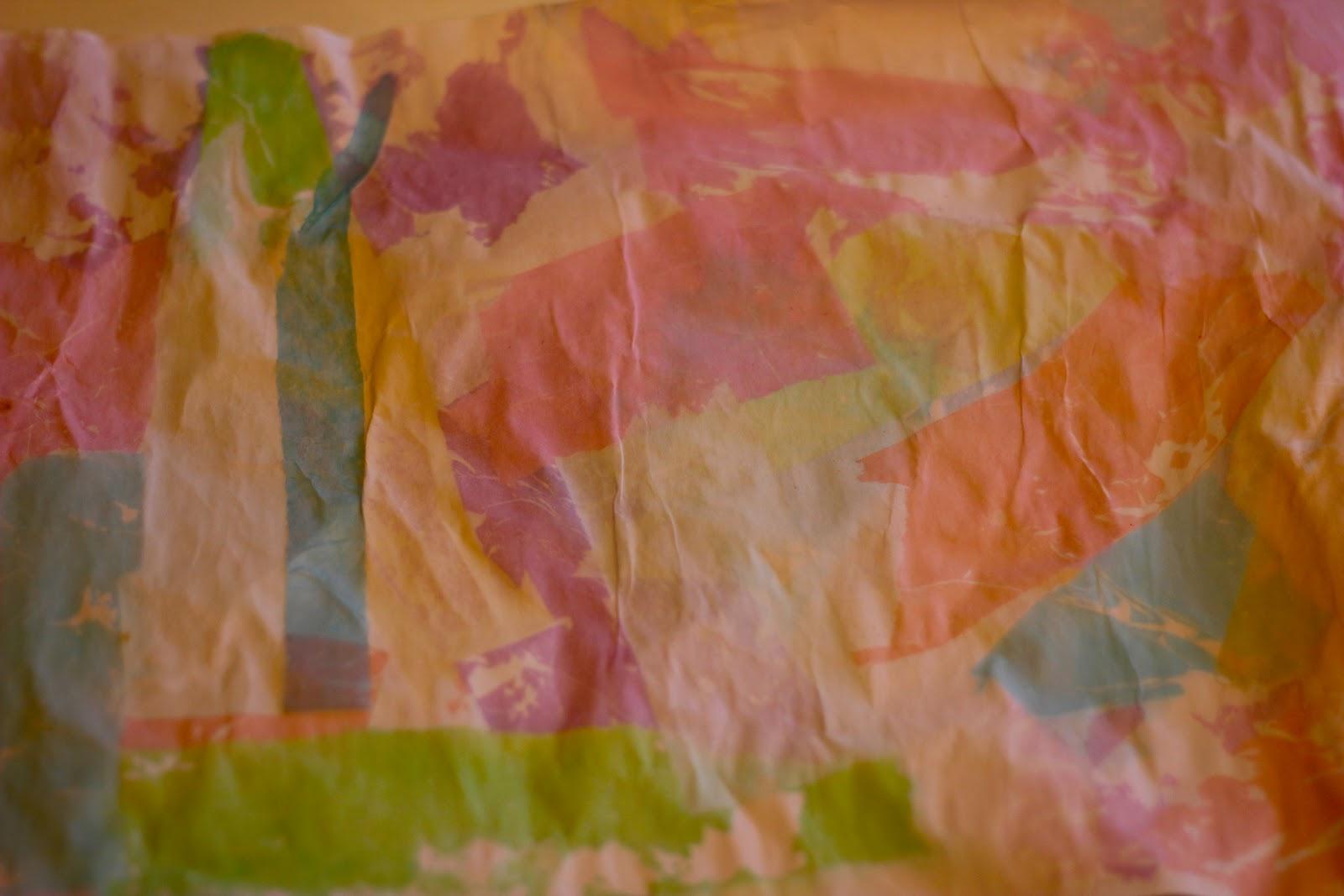 tissue paper bleeding art - the imagination tree