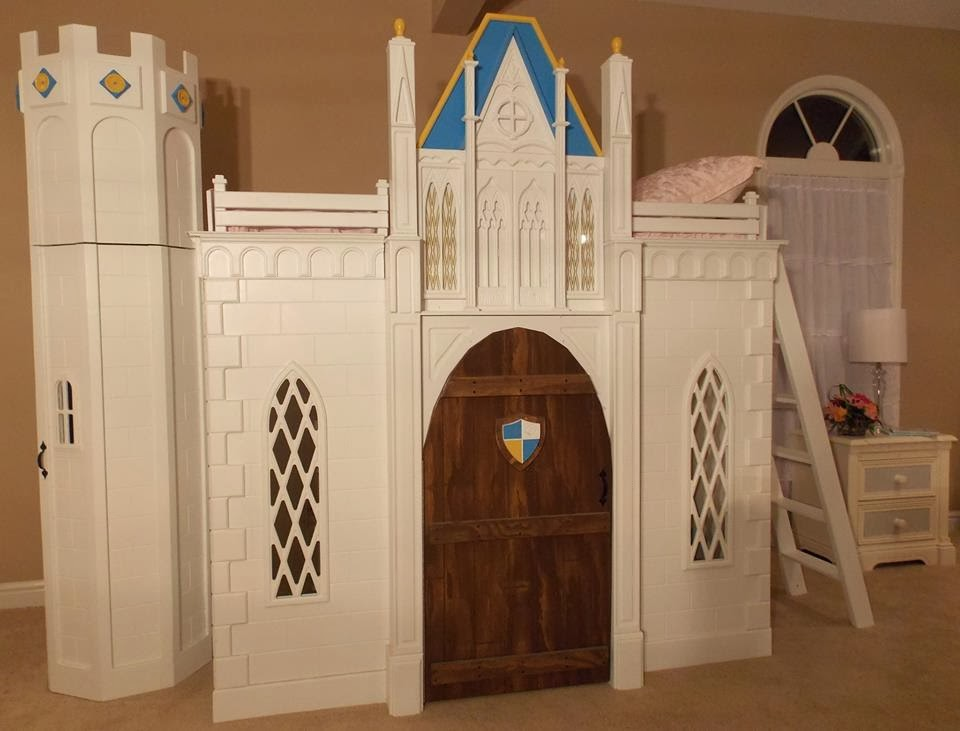 Castle indoor playhouse bed lilliput play homes custom for Castle bed plans pdf