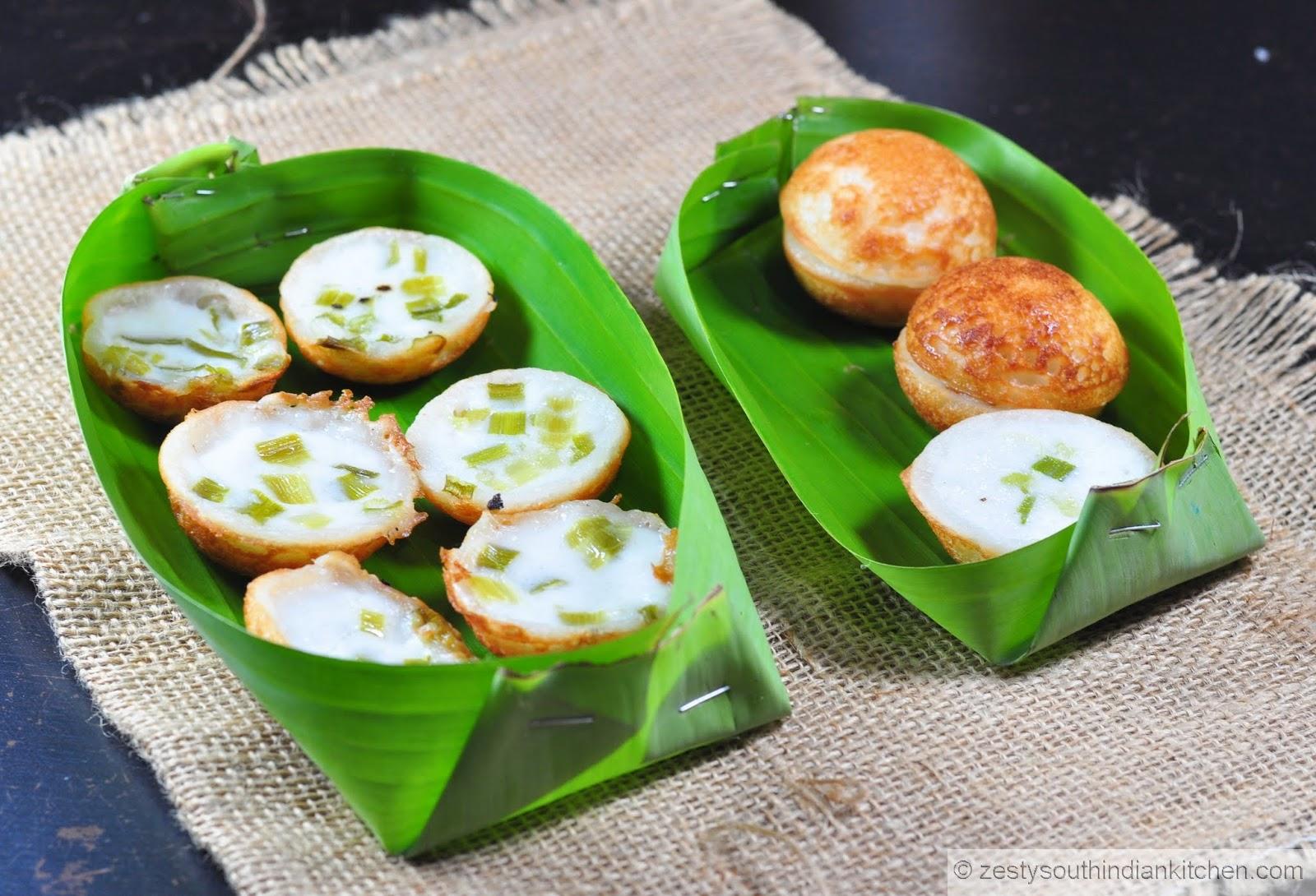 Khanom Krok / Thai Coconut-Rice Pancakes - Zesty South Indian Kitchen