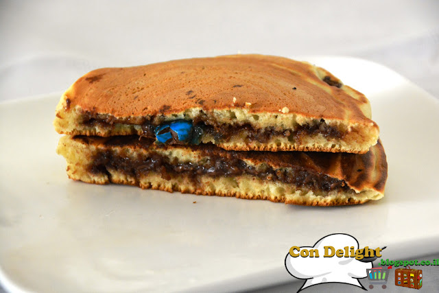 פנקייקס במילוי נוטלה Nutella filled pancakes