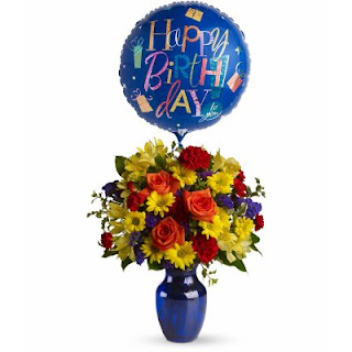 Send Birthday Flowers with the Teleflora Fly Away Birthday Flowers in a Vase