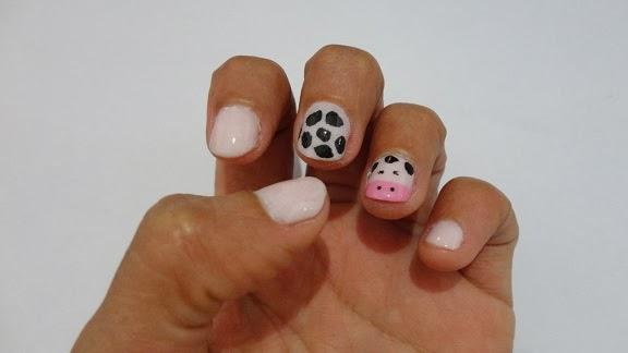 nail art vaca