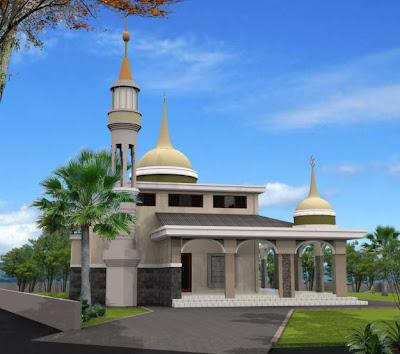 Berikut beberapa koleksi gambar desain masjid minimalis modern :