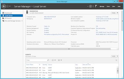 Windows Server 2012: Server Manager Local Server