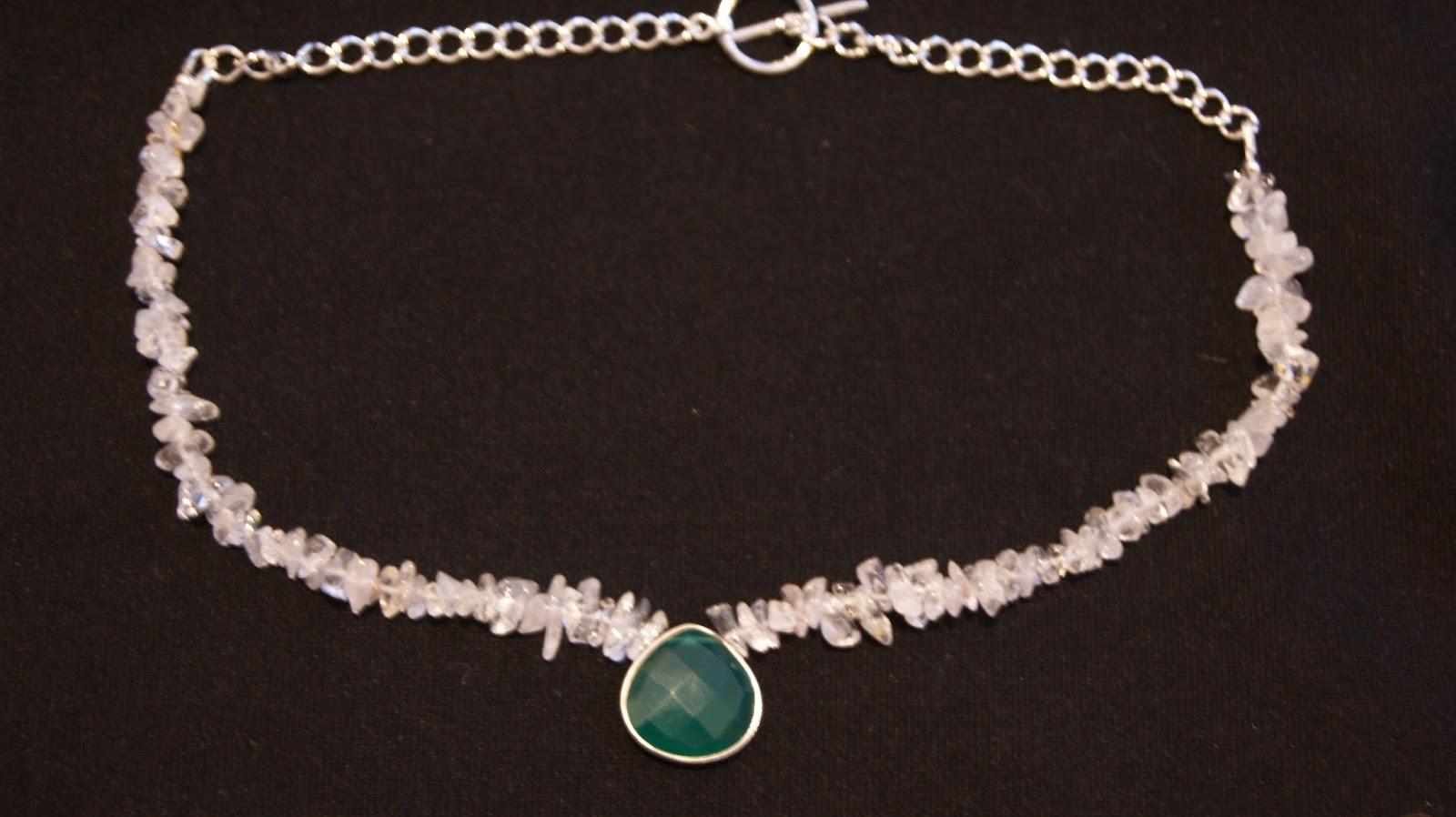 Edolym Etsy Clear Quartz Necklace