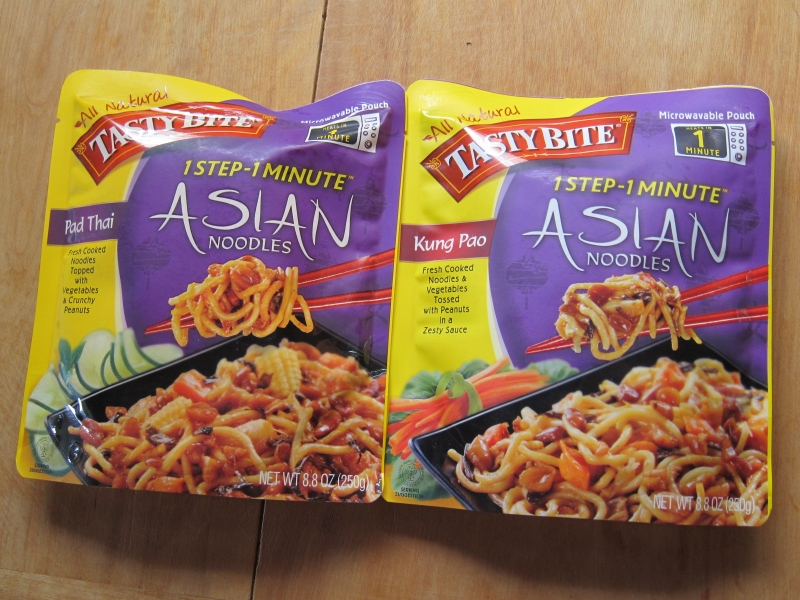 review: tasty bite - kung pao and pad thai noodles | brand