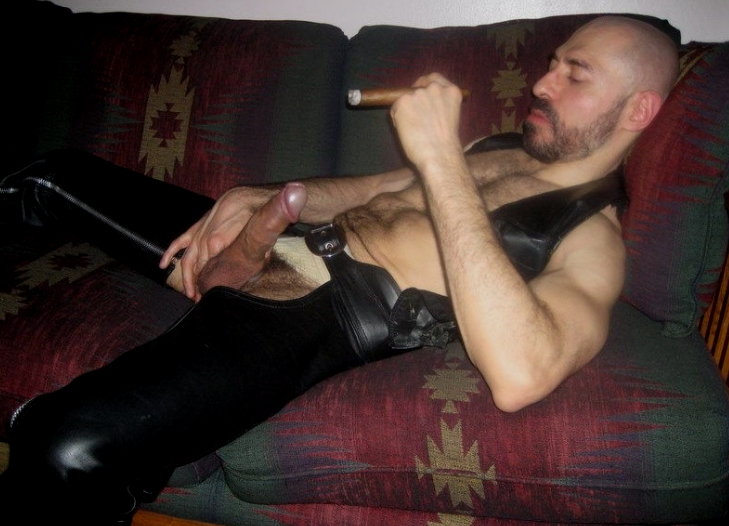 She alluring nude cigar smoking mooore!