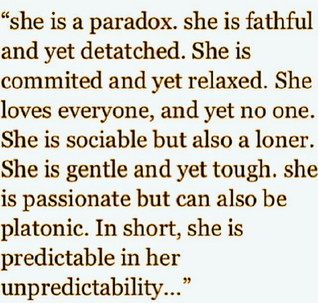 She Is A Paradox