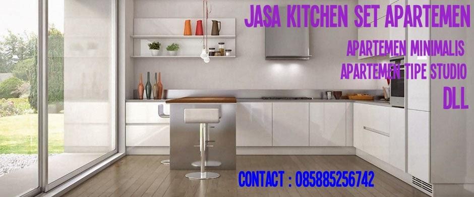 Jasa pembuatan kitchen set untuk apartemen di jakarta for Harga granit untuk kitchen set