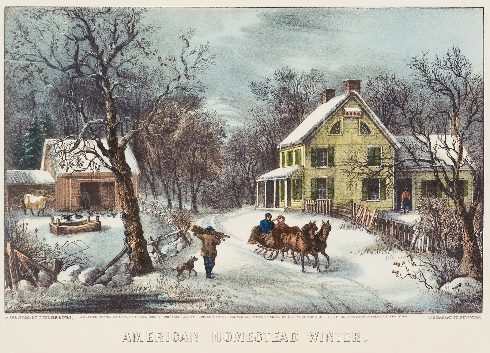 Art now and then currier and ives for The ives