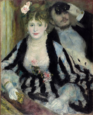 Pierre-Auguste Renoir. The Loge, 1874 at AIC Impressionism, Fashion and Modernit