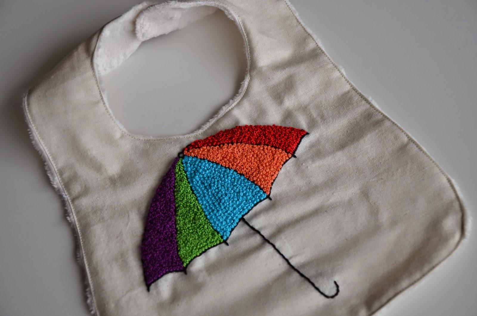 A colourful bib by MADE BY Y