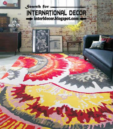 stylish printed carpet patterns, patterned carpets and rugs, colorful carpets