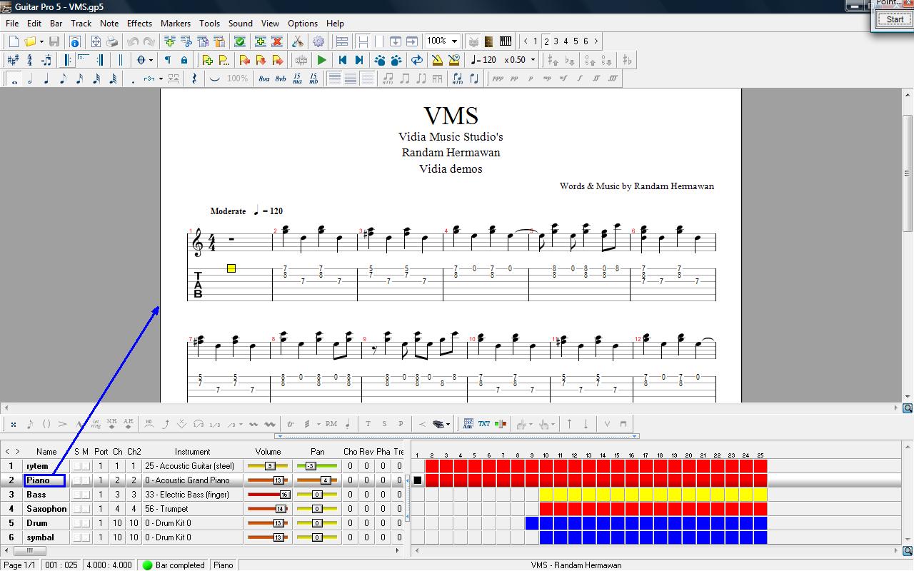 VIDIA MUSIC STUDIO: Cara Mudah Mendokumentasikan Lagu Pada