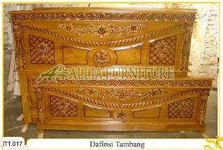 Tempat tidur kayu jati ukir jepara Dafinsi Tambang murah.Jakarta