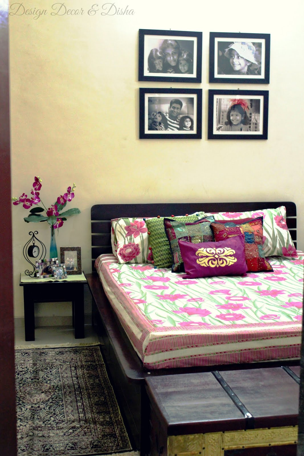 Design decor disha an indian design decor blog home tour kapila banerjee - Image for bed room ...