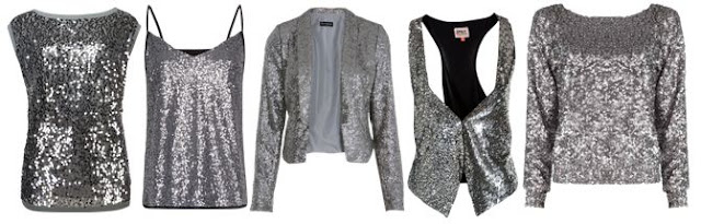 silver sequins - Top / Tank / Blazer / Vest / Sweater
