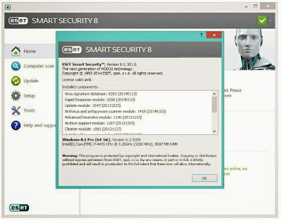 Eset NOD32  Antivirus 8 Full Serial key terbaru 2015
