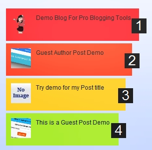 Multi Colored Popular Post Widget For Blogger