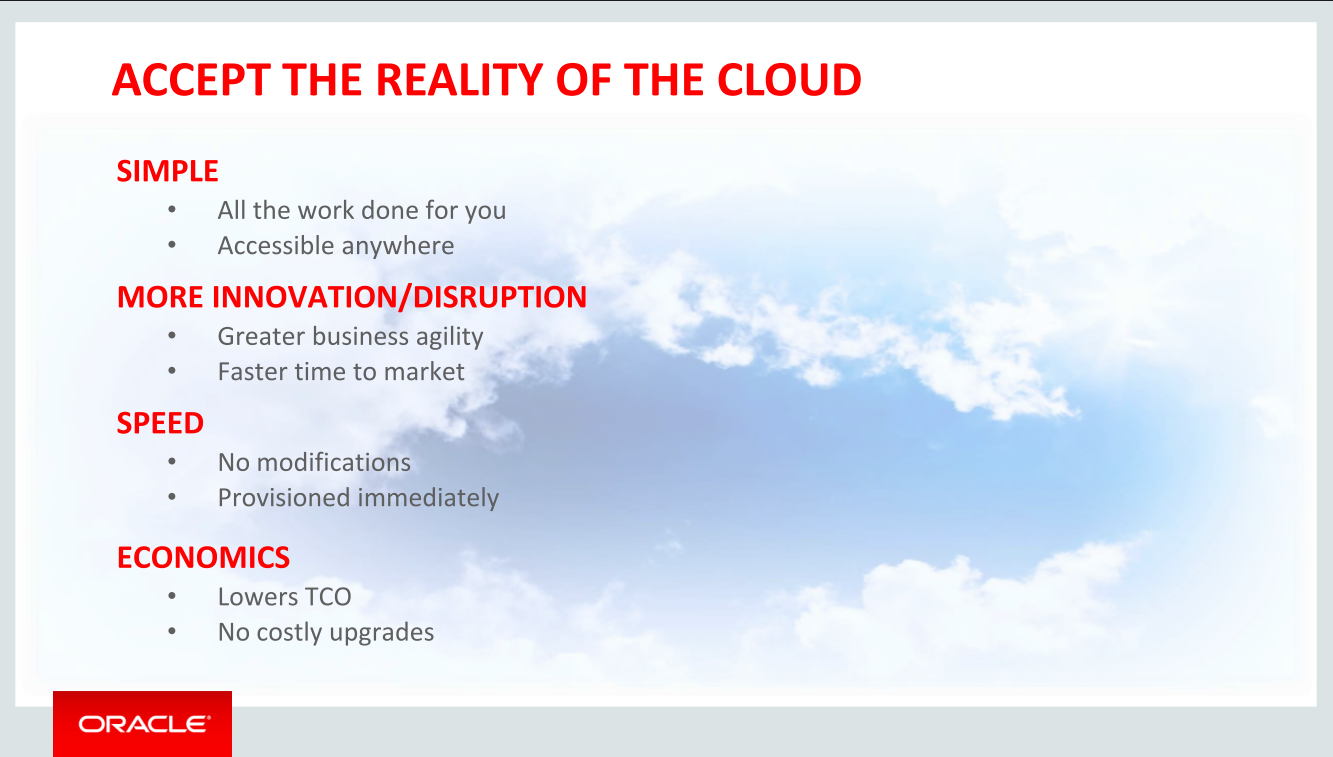 Progress Report - Oracle Cloud makes progress - but key work remains in the cellar