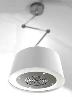 Hotte design style lampe industrielle blanche par Sirius