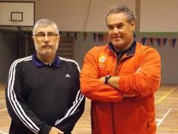 El renunciante Colamonici (izquierda), junto von Berger integraron la dupla técnica de la selección uruguaya femenina   Mundo Handball