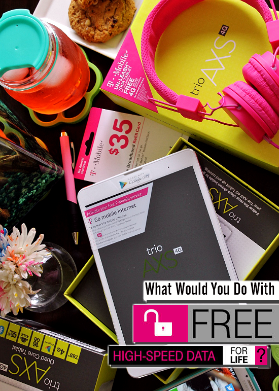 Did you know you can get 200MB of free Tmobile 4g Data for life when you buy the $179 AXS #TabletTrio at Walmart? #CollectiveBias #shop