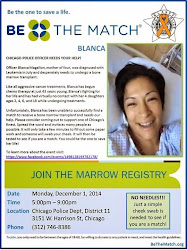 BE THE MATCH for Blanca! Join the bone marrow registry! Blanca Magallon needs a bone marrow transpl