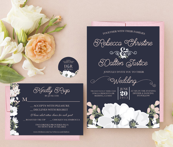 GotPrint Chelsea Wedding Invites and postcards