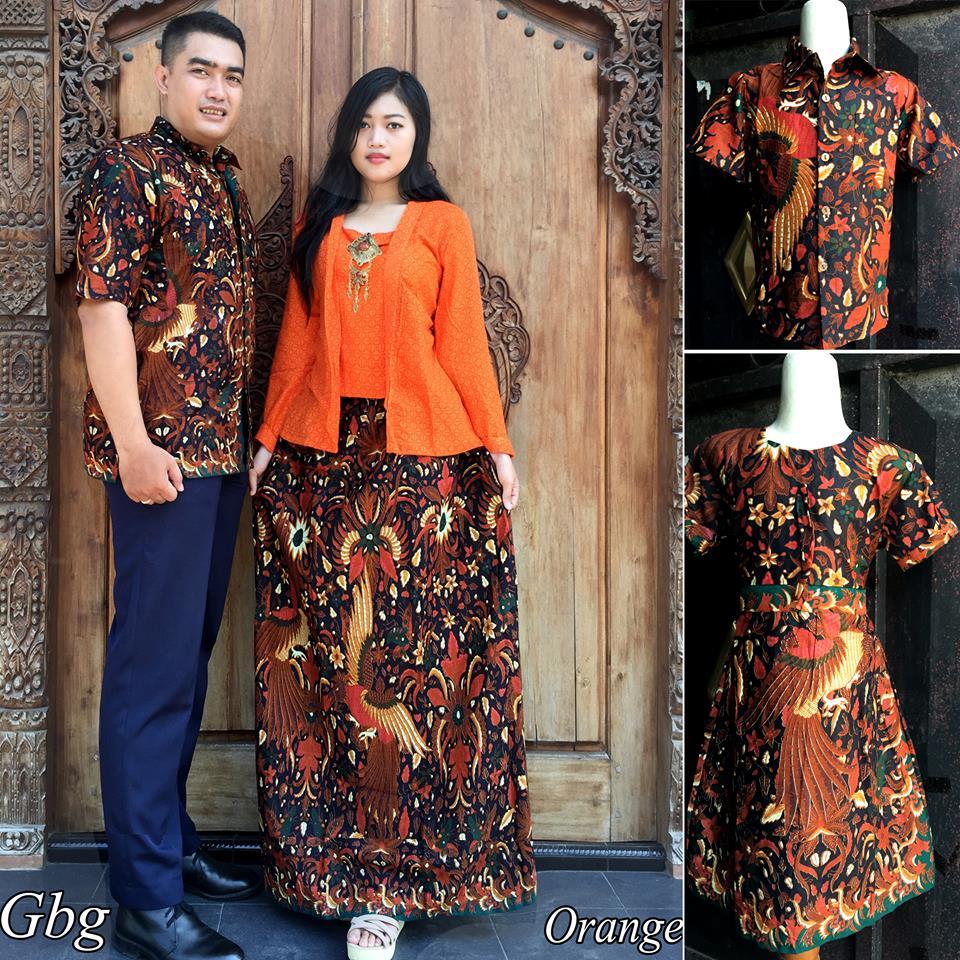 Baju Batik Keluarga Stelan Rok Dan Blus Gbg