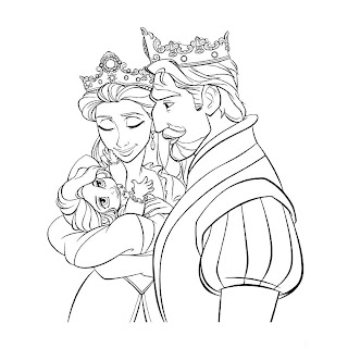 rapunzel coloring book