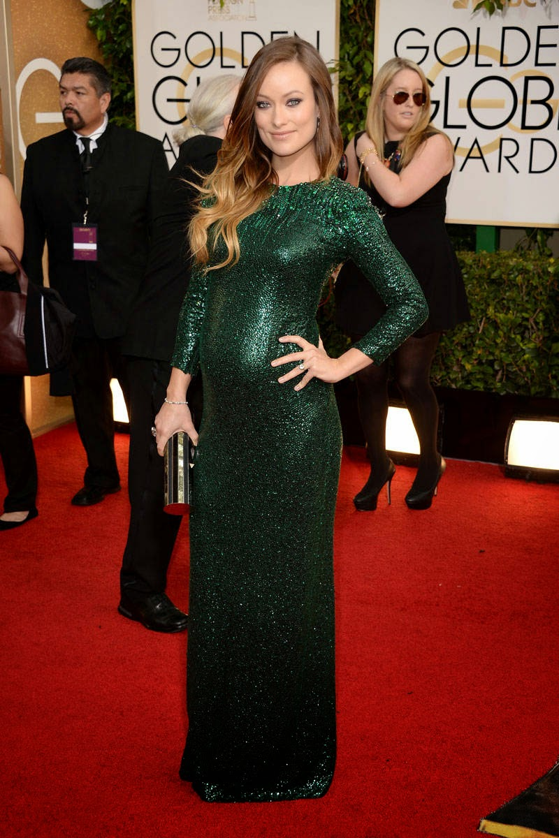 Olivia Wilde in Gucci. Check out our Kelly green knee-length maternity dress and this long sleeve maxi maternity dress