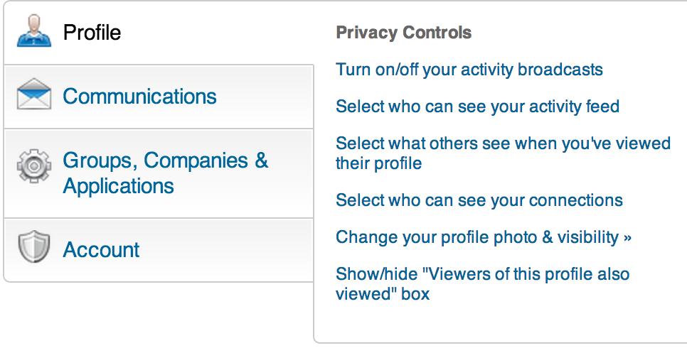LinkedIn Privacy Controls