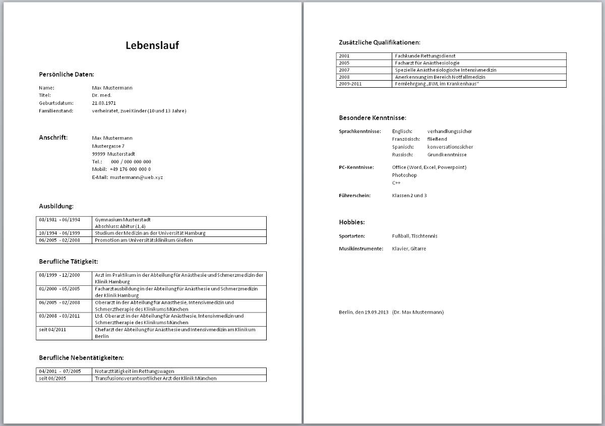 CV beispiel schweiz ~ Dokument Blogs