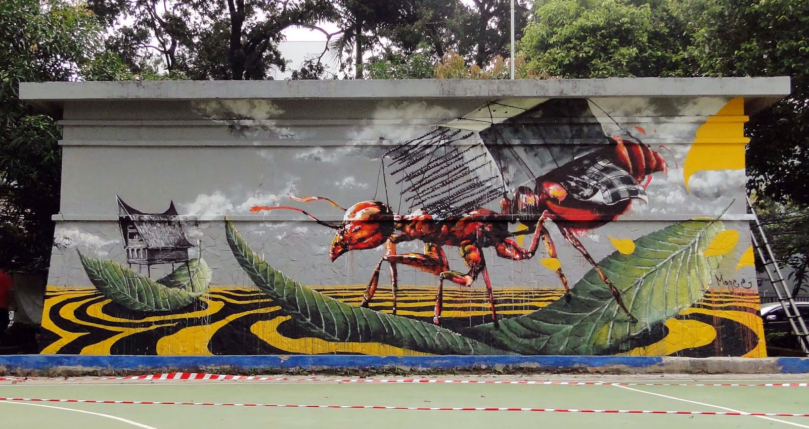 Fintan magee new mural for jakarta biennale 39 13 for Mural indonesia