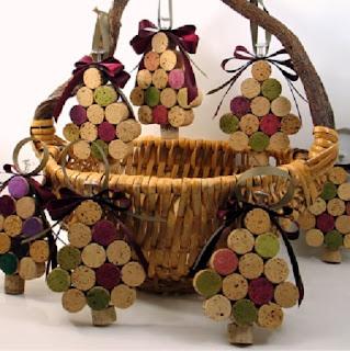 Adornos para el Arbol de Navidad con Corchos Reciclados
