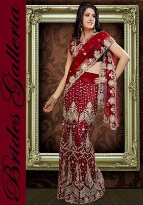 how to wear lehenga style sarees