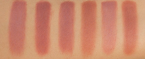 lancome rose fresque blush comparison swatches