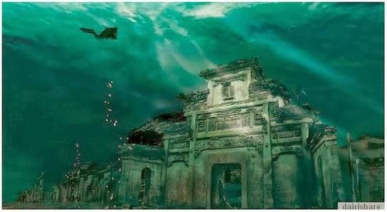 Pelik Bandar Purba Dalam Tasik Di China Yang Buatkan Anda Terpegun
